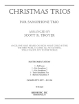 Christmas Trios for Saxophones